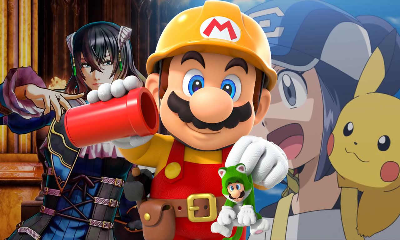 Impressões de Super Mario Maker 2 e Bloodstained, e mais de Pokémon Masters
