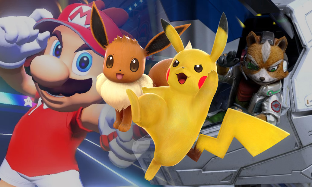 Rumores de Pokémon Let's Go e Star Fox: Grand Prix, e carreira em Mario Tennis Aces